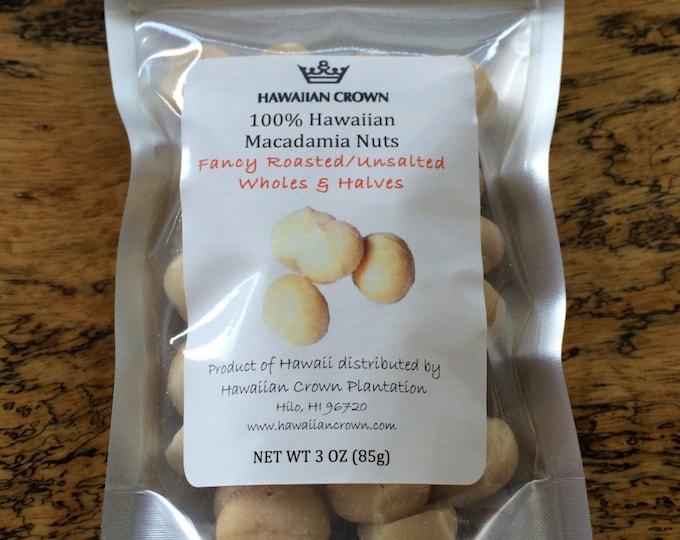 Wholesale Bulk 3 Bags Unsalted Hawaiian Macadamia Nuts- 3oz