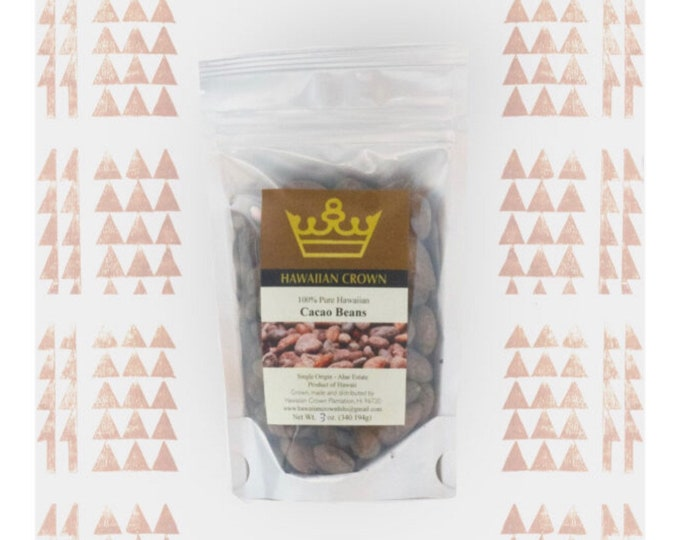 Whole Hawaiian Cacao Beans- 3oz