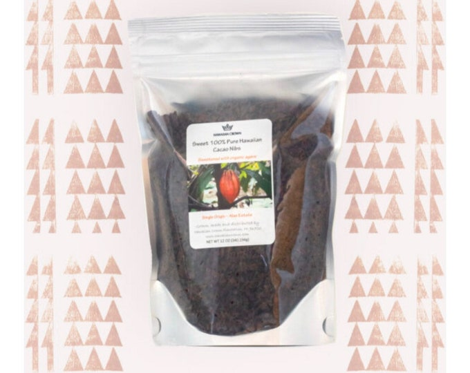 Agave Sweetened Cacao Nibs- 12oz