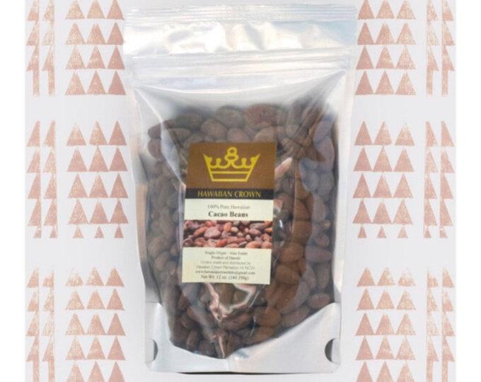 Whole Hawaiian Cacao Beans- 12oz