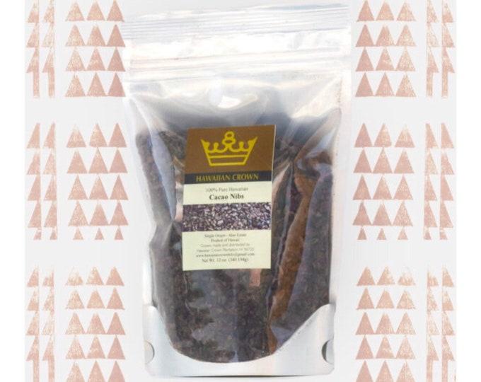 Pure Hawaiian Cacao Nibs- 12oz