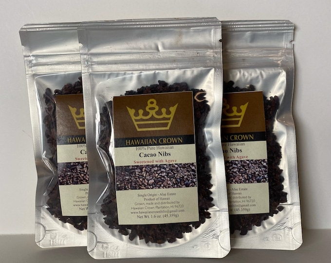 Wholesale Bulk 3 Bags Agave Sweetened Cacao Nibs- 1.6oz