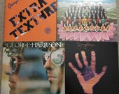 George Harrison vinyl record albums, Extra Texture, Thirty Three 1 3, Dark Horse and Living in the Material World