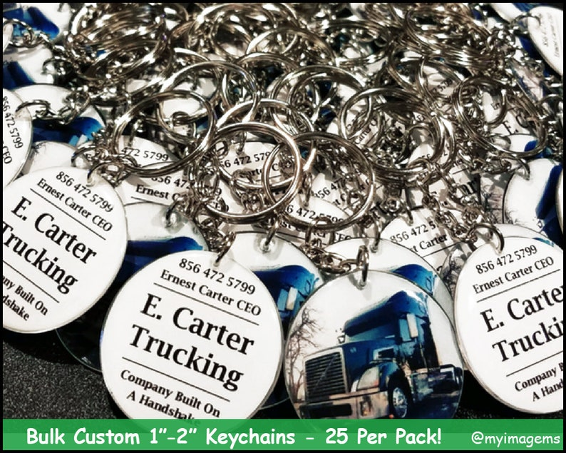 25 Per Pack of Custom Keychains - Double Sided Keychains - Business  Keychains - Custom Keychains - Keychains Wholesale - Bulk Keychains