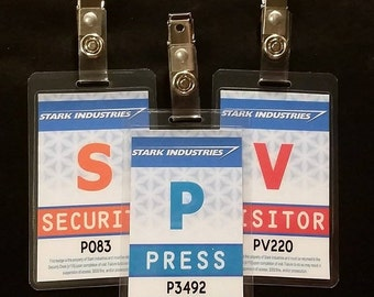 Stark Industries Security Press Visitor Badges