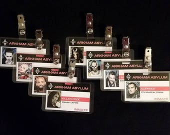 Arkham Asylum ID Badges Inspired By DCs Suicide Squad