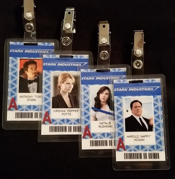 Stark Industries ID Badges Inspired By Marvels Iron Man