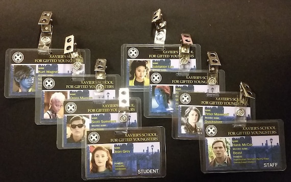Xavier's School for Gifted Youngsters ID Badges (X Men Apocalypse and Dark Phoenix)