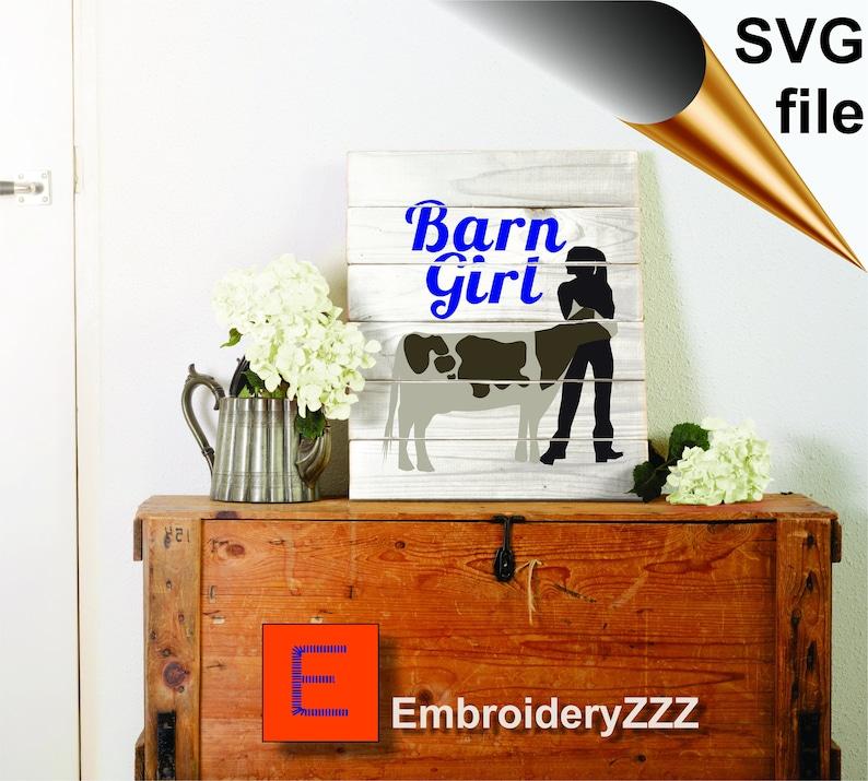 Barn Girl Cow svg cow silhouette pattern farm girl barn girl printable farm life svg dxf cricut cow design vector clip art cut file