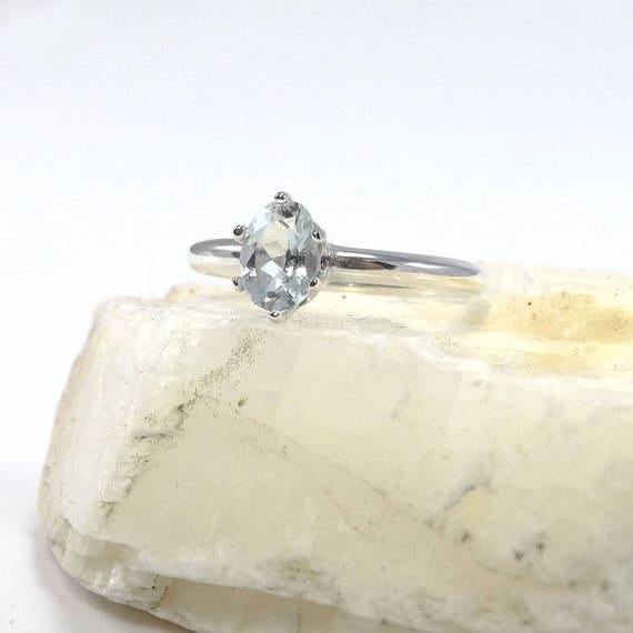 Women/'s Bridal Green Amethyst /& White Topaz Gemstone Silver Ring Taille 6 7 8 9 10