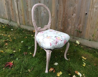 SOLD NOW *************************Vintage / Shabby Chic / Romantic / Victorian Ocassional chair