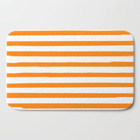 Orange Streifen Badematte Set Gestreifte Badematte Etsy