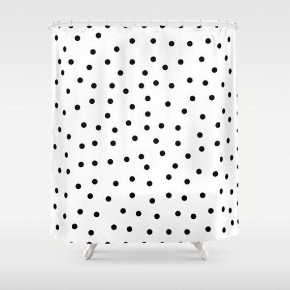 Polka Dot Shower Curtain Kids Bathroom Decor Black And
