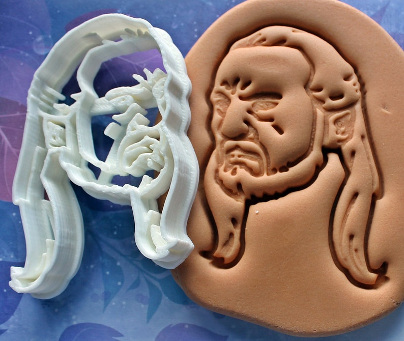 Star Wars Qui-Gon Jinn Cookie Cutter Made From Biodegradable image 0