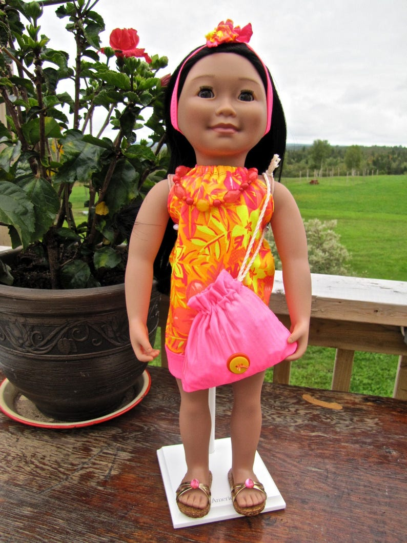 """Hawaiian Pink Hair Clip made for 18/"""" American Girl Doll Clothes Accessories"""