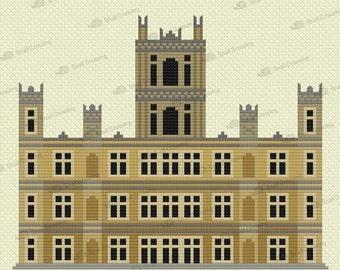 Downton Abbey -- Counted Cross Stitch Pattern PDF Download