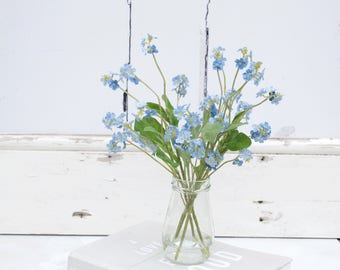 Faux flowers silk flowers forget me nots faux bouquet etsy 10 forget me not stems silk flowers blue silk flowers faux bouquet silk bouquet artificial flowers gift for mother birthday mightylinksfo