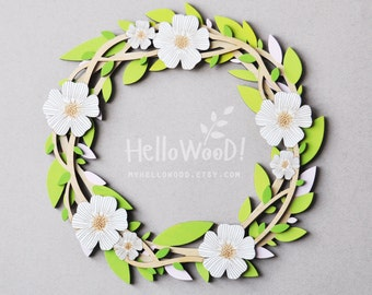 EASTER Flower Wreath Decoration