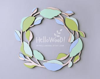 Spring Easter Wreath Wooden Decoration