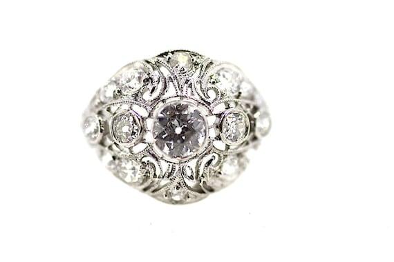 Art Deco Diamond Dress Ring / Antique Diamond Ring