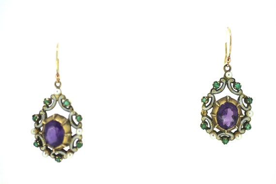 British Suffragette Drop Earrings / Genuine Suffra