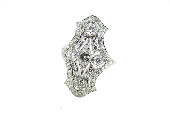 Art Deco Diamond Ring / British Art Deco Ring / Be