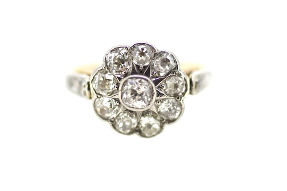 Art Deco Diamond Ring / British Art Deco Ring / Fl