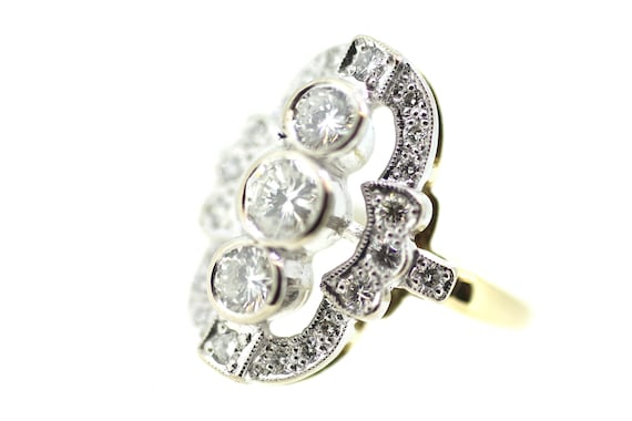Art Deco Diamond Ring / Art Deco Reproduction Ring