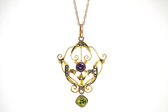 British Antique Suffragette Pendant / Gold Suffrag