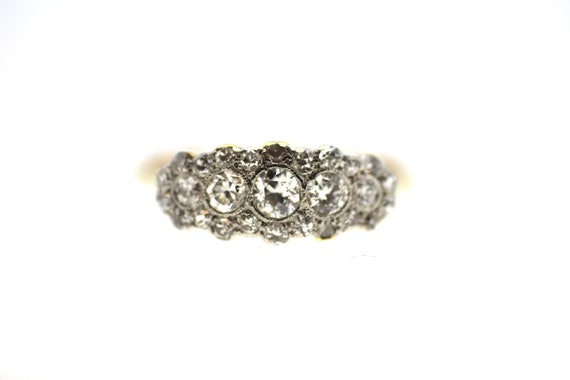 British Art Deco Diamond Ring / Art Deco Ring / Mu