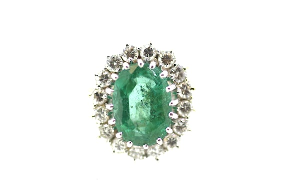 Vintage Emerald Solitaire Ring / Vintage British E