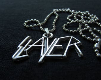 Slayer Necklace 925 Silver Plated Free Shipping