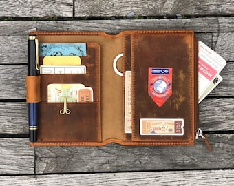 Dollbirdies Original Passport Size Traveler Notebook Card Wallet Passport Card Wallet