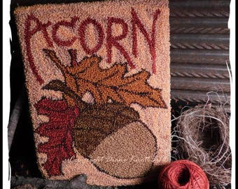Acorn Punch Needle Instant Download Pattern by Diane Knott LLC - for Fall and Thanksgiving Decor