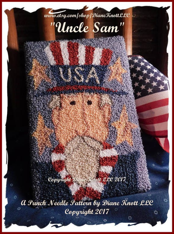 Uncle Sam Patriotic Needle Minder