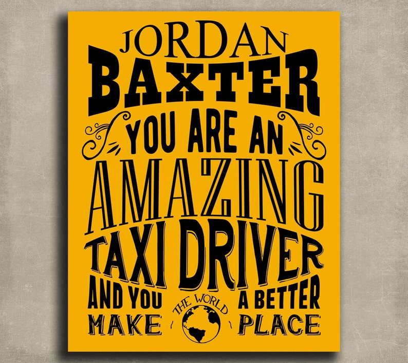Lyft Canvas or Paper 1222 Custom Gift For Uber Taxi Limo Driver Metal Amazing Taxi Driver Limousine Personalized Art Print
