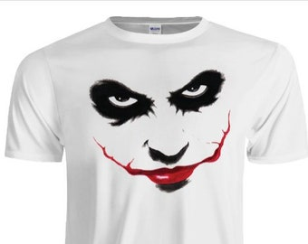 Joker DC Comics Men/'s T Shirt 100/% Cotton S-5XL Made In USA Crazy Heath Ledger