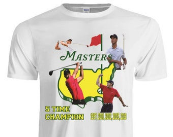 a0b89cc4 Tiger Woods Masters Champion Ship Tee
