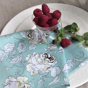 Romantic rose napkins Bulk Family Pack Linen Unpaper Cloth Napkin Reusable Cloth Napkins Set of 8 Dinner Napkins