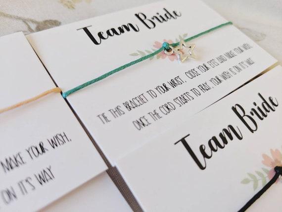 Personalised Poem Hen Do Favour Party Bag Filler Bachelorette Gift Wish Bracelet
