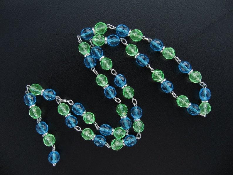 handmade gift for her. 3-row uranium bracelet or 2-row uranium ankle bracelet or V-form uranium necklace