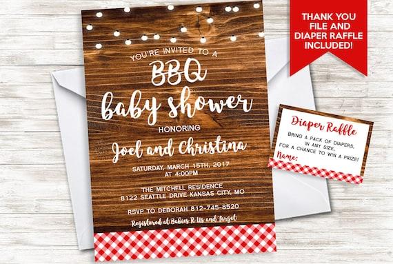 baby bbq invitation shower invite barbecue backyard sprinkle etsy