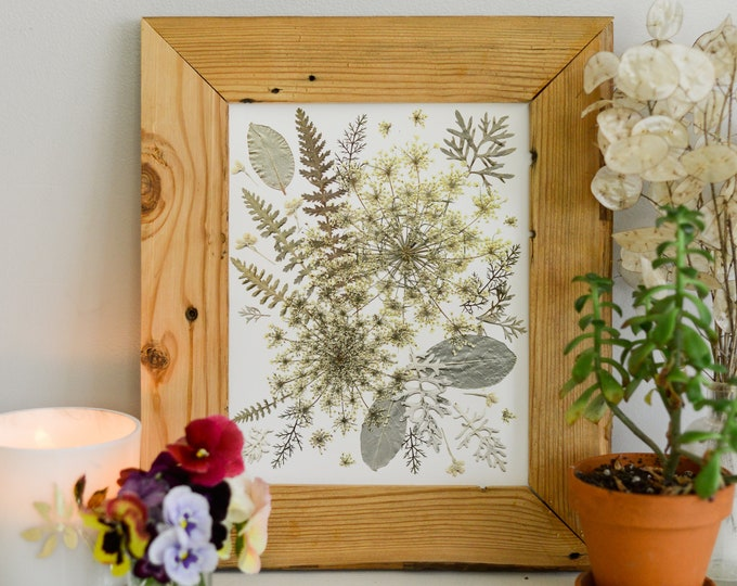"""WINTER / Four Seasons   Limited edition, numbered Print artwork of pressed flowers   8x10"""" 100% cotton rag paper   Botanical artwork"""