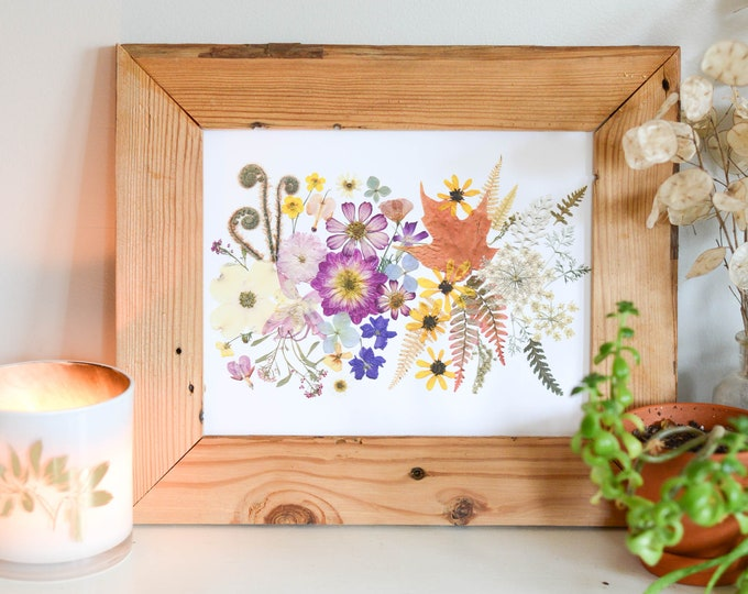 Four Seasons | Limited edition, numbered Print artwork of pressed flowers | 100% cotton rag paper | Botanical artwork