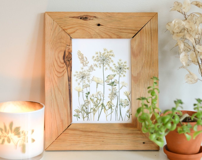 Frosted meadow | Print reproduction artwork of pressed flowers | 100% cotton rag paper | Botanical art