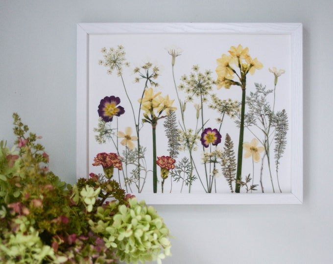Winter Meadow / Four Seasons | Limited edition, numbered Print artwork of pressed flowers | 100% cotton rag paper | Botanical artwork
