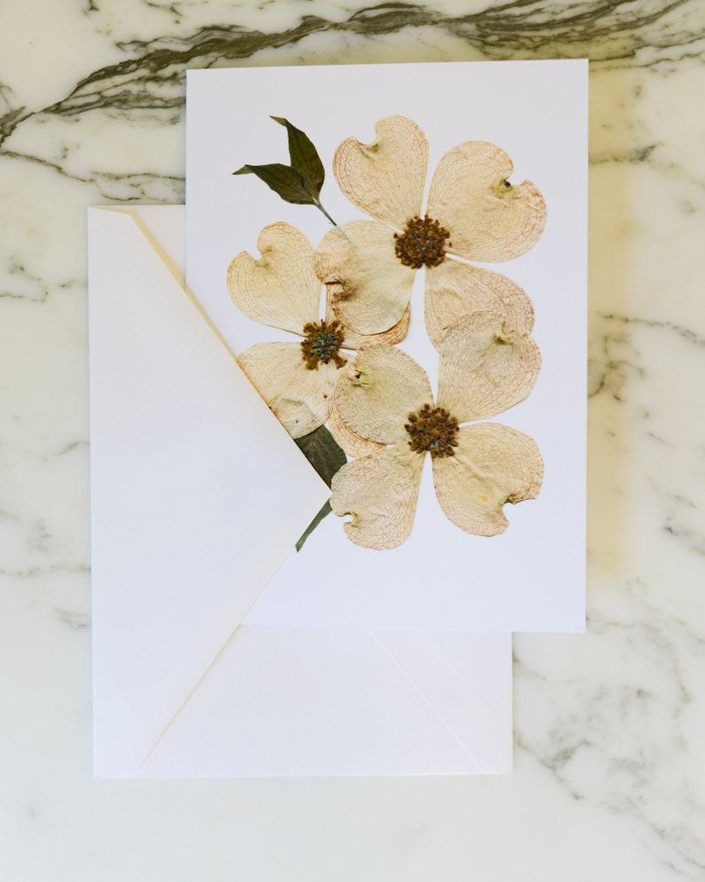 Flowering dogwood VA NC State Flower  Blank Greeting Card image 0