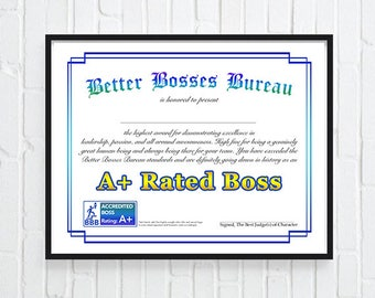 best boss award etsy