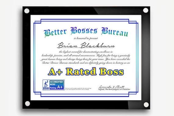 funny bosses day gift best boss award boss s day gift etsy