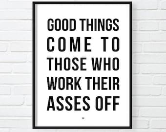 Motivational Quote Poster, Modern Office Decor, Workout Poster, Gift for Boss, Cool Poster, Inspirational Print, always be closing,